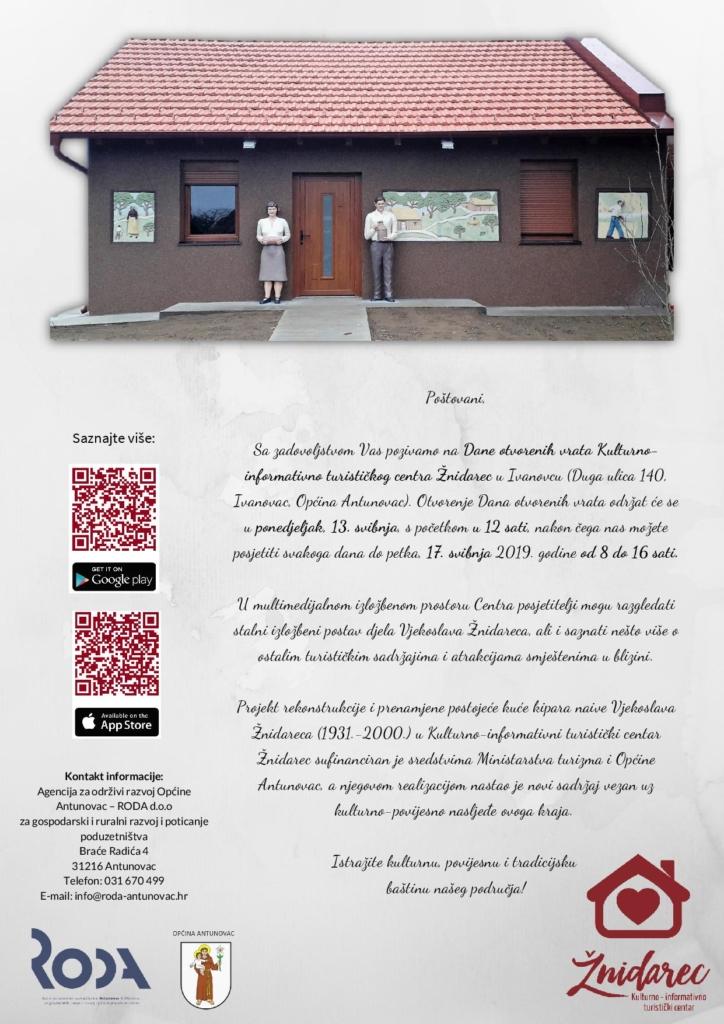 Pozivnica na Dane otvorenih vrata Kulturno-informativno turističkog centra Žnidarec