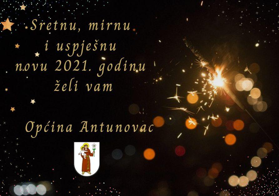 Sretnu i uspješnu 2021. godinu želi vam Općina Antunovac!